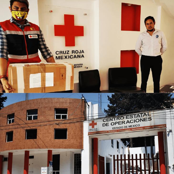 Donación de 500 máscaras KN95 a Cruz Roja Mexicana Edo. Mex.