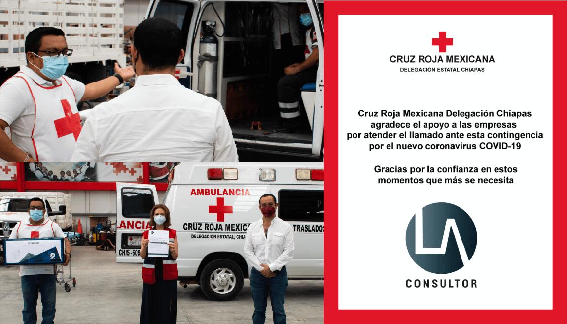 Donación de 500 máscaras KN95 a Cruz Roja Mexicana Chiapas