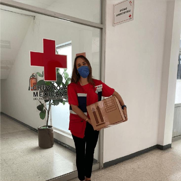 Donación de 500 máscaras KN95 a Cruz Roja Mexicana Monterrey